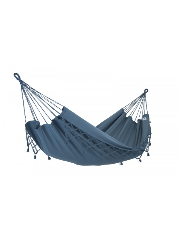Kocon - Traditional Anthracite Hammock with Fringes